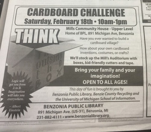 Benzonia Cardboard Challenge