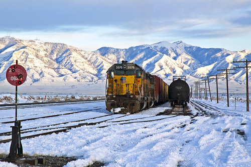 unionpacific up sd402 burmesterut shaftersubdivision yard snow utah