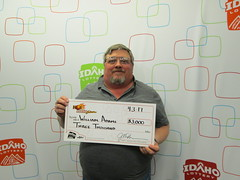 William Adams - $3,000 - Hot Lotto Sizzler - Boise - T.V.C.
