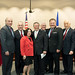 From left - State Reps. Christie Carpino, Tony Guerrera, Jeff Berger, State Senator Toni Boucher, former Rep. Joe Mioli, Reps. Joe Verrengia, Tony D'Amelio, Joseph Serra and Jonathan Steinberg during the legislature's 2017 Saint Joseph's Day celebration.