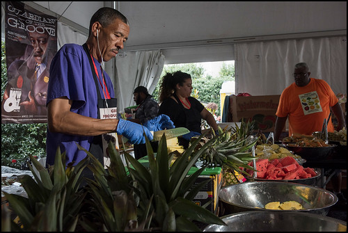 George's Produce team hard at work on Jazz Fest day 2 on April 29, 2017. Photo by Ryan Hodgson-Rigsbee www.rhrphoto.com