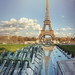 Eiffel Tower on a sunny spring day