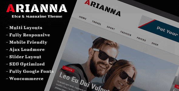 Arianna WordPress Theme free download