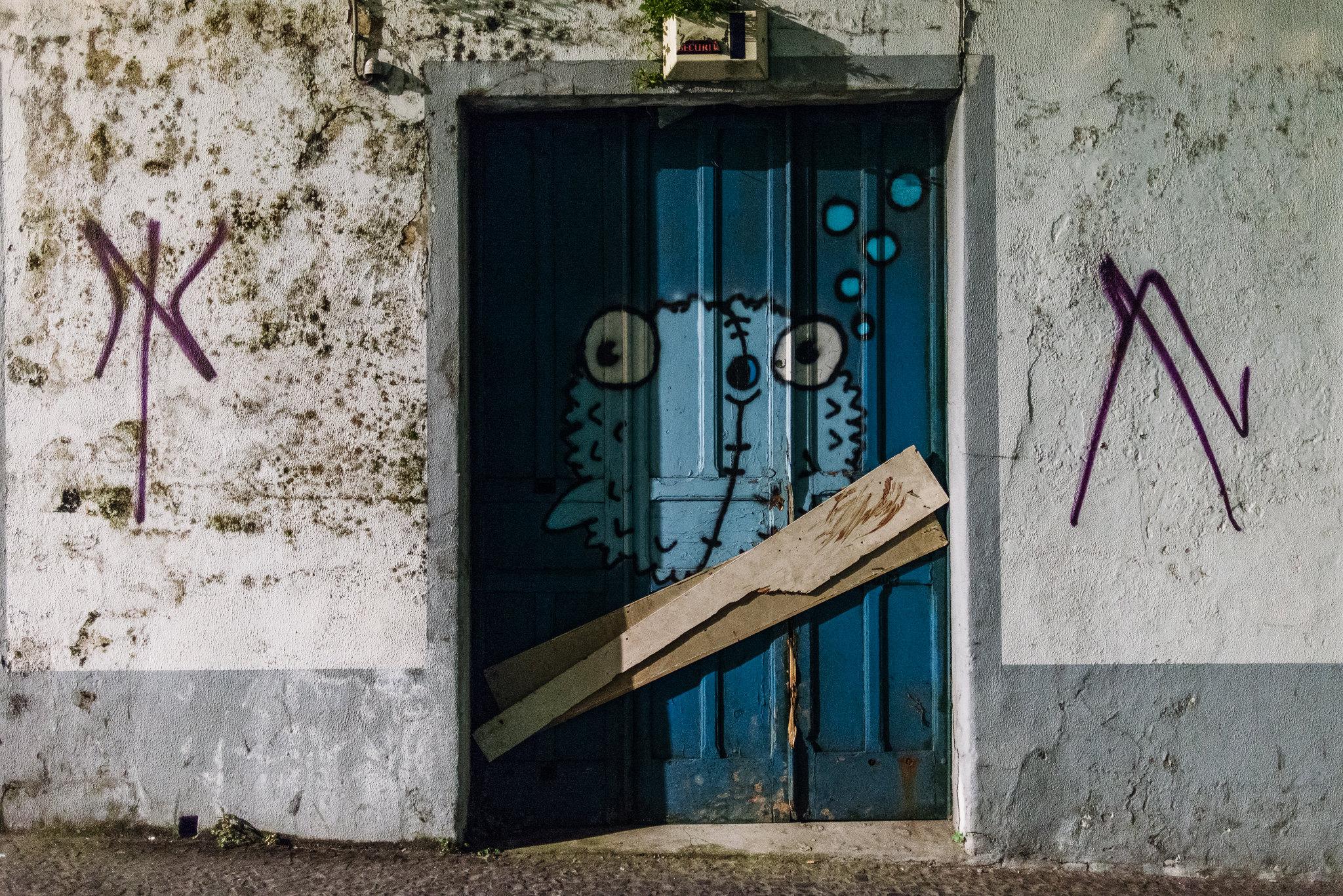 Street art Ponta Delgadaban az Azori-szigeteken