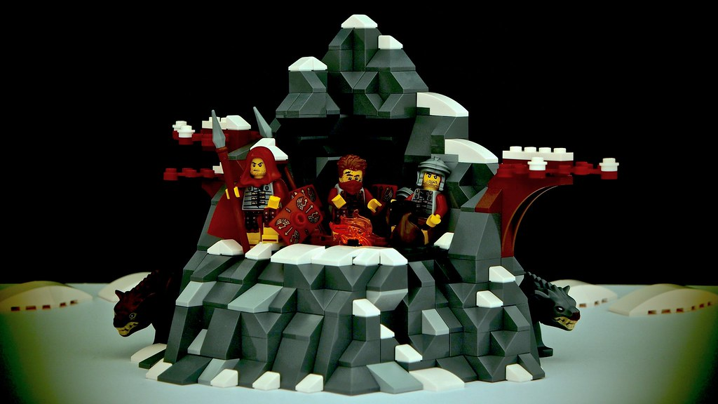 Winter camp (custom built Lego model)