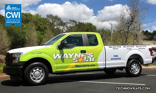 Pick up truck partial vehicle wrap by TechnoSigns in Orlando