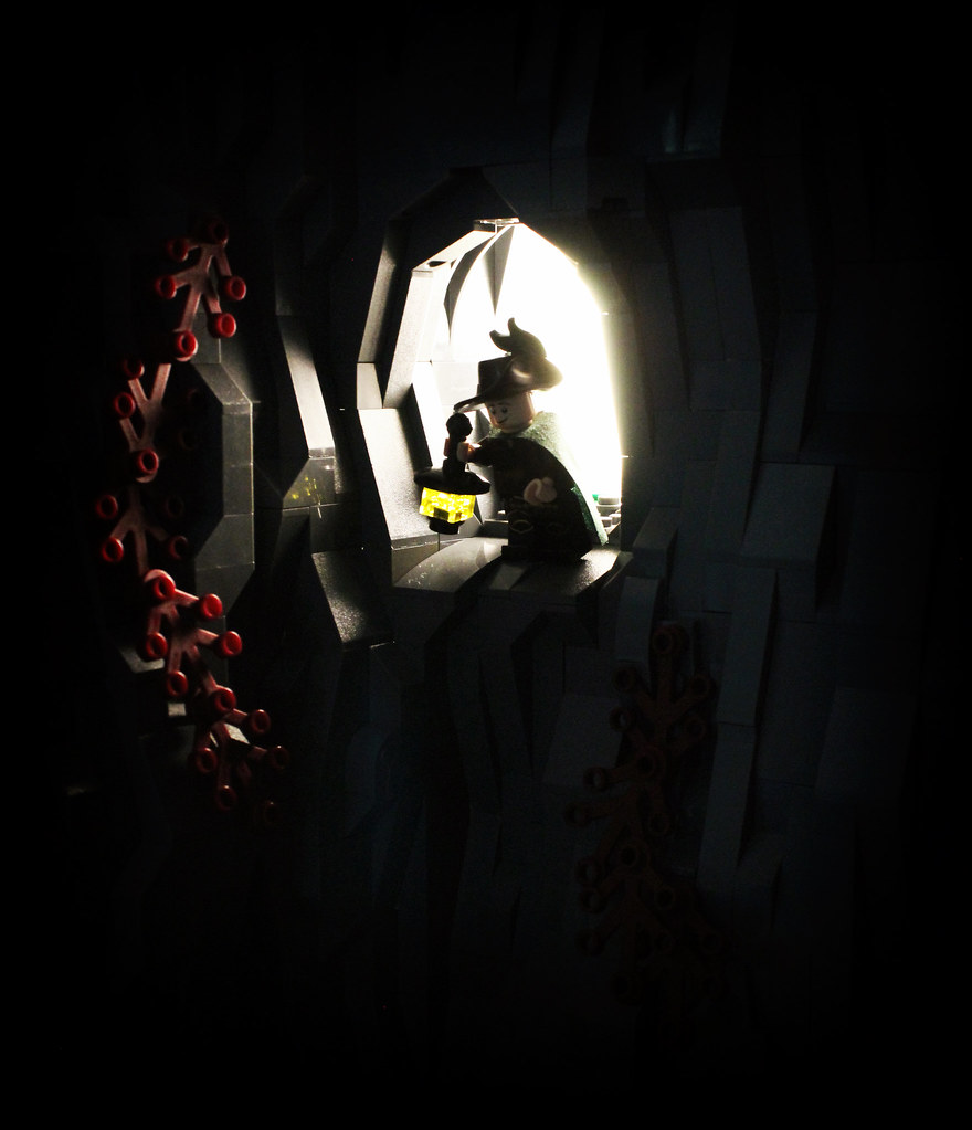 Entering the Abyss. (custom built Lego model)