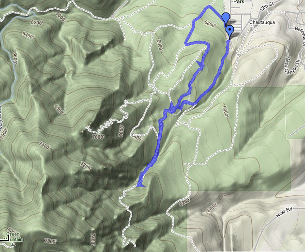 GPS - Hiking at Royal Arch, Boulder, CO