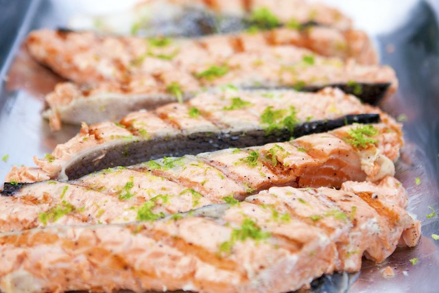 ... grilled salmon with lime grilled salmon with lemon and grilled salmon