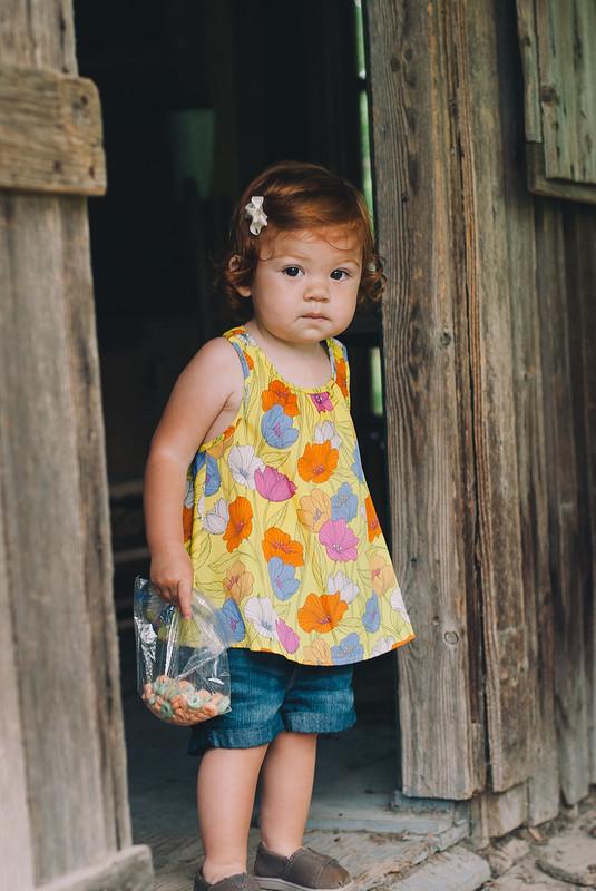 Lucy at the Dallas Arboretum