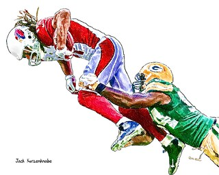 Arizona Cardinals Larry Fitzgerald - Green Bay Packers Dezman Moses
