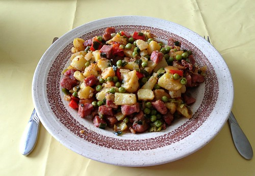 Kassler-Gemüse-Pfanne / Smoked pork vegetable fry