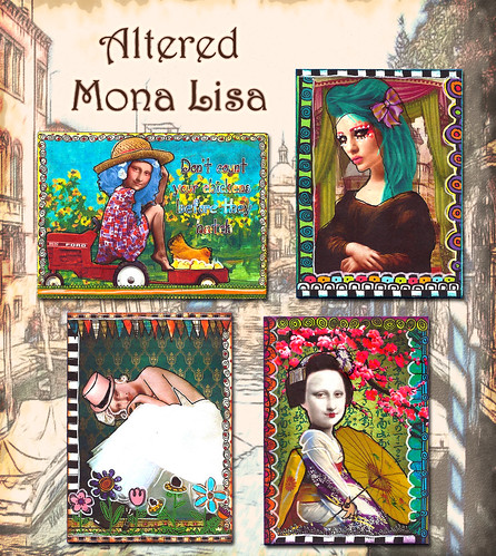 Altered Mona Lisa by flowerlily1