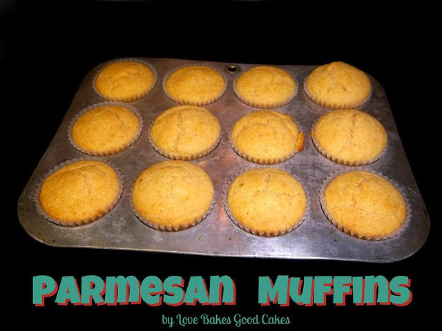 Parmesan Muffins in a muffin pan.