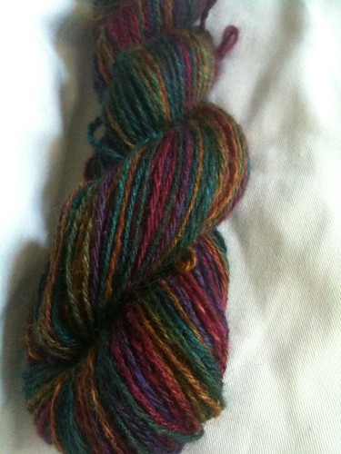Chocolate Rainbow skein 2