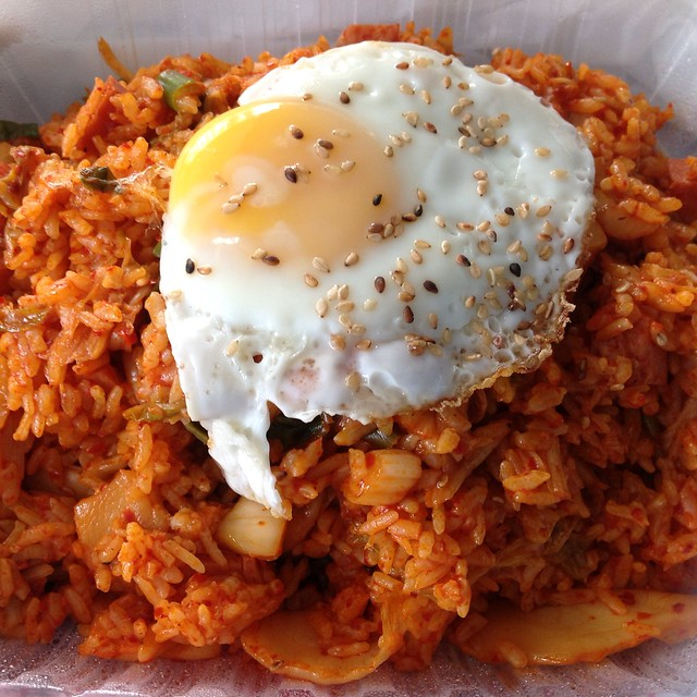 Kimchi Fried Rice with Egg @ Bart Grocery & BBQ