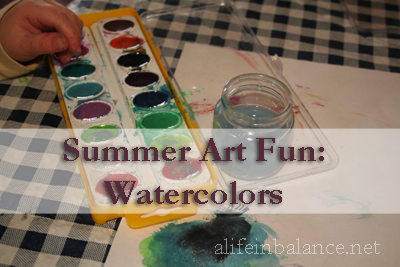 Summer Art Fun: Water Colors