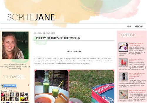 Sophie Jane Blog Screencap
