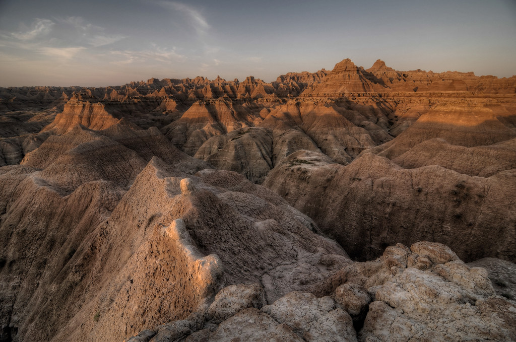 Badlands National Park Sunrise HDR