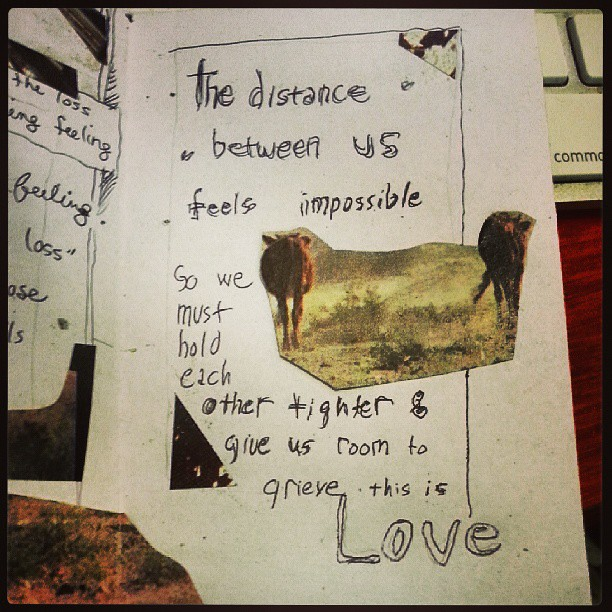 Excerpt from mini #zine 'Mapping Grief' by anon (2013) from our #amc2013 #poczines workshop with @moonrootzine. #archive