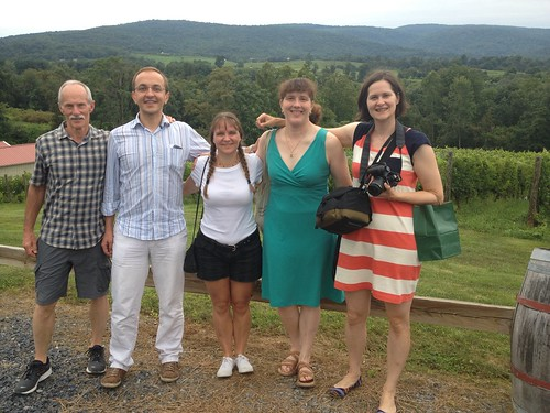 Tom, Laurent, Donna, Julie and Pam at Chateau O'Brien