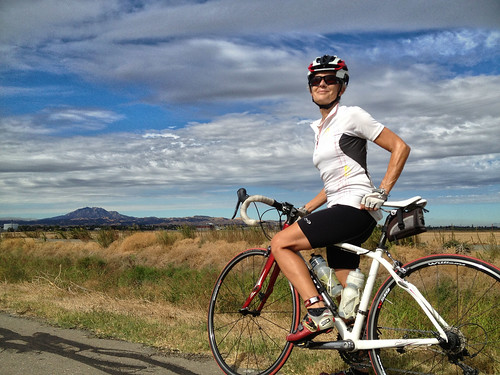 Ride with Tricia, clouds and Mt. Diablo