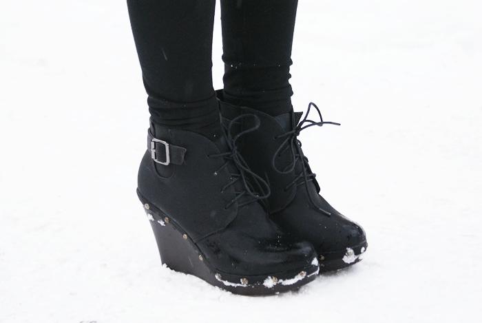 czarne botki czas na buty
