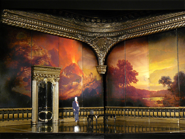 Set model of Stefan Herheim's new production of Les Vêpres siciliennes, set designs by Philipp Fürhofer © ROH
