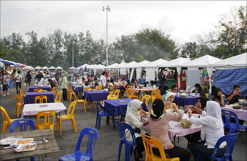 Outdoor food court at the Phuket Halal Expo