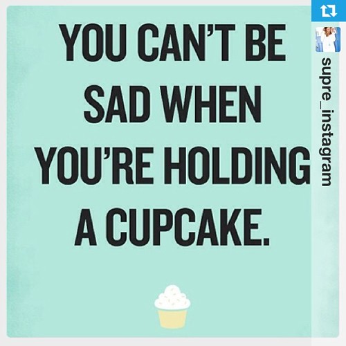You can't be sad when you're holding a Cupcake #Repost from @supre_instagram with @repostapp www.therabbitandtherobin.co.za {follow me @robindeel on Instagram} Official @rabbitandrobin  #quote #cupcake