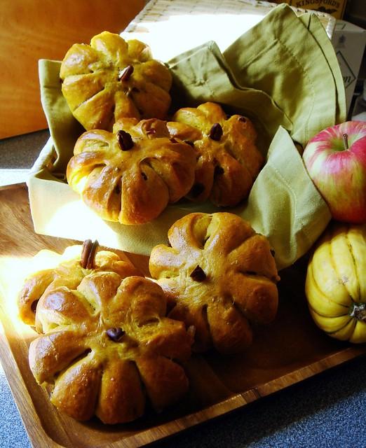 Cranberry Pumpkin Rolls