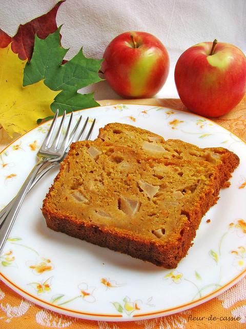 тыквенный кекс с яблоком 3