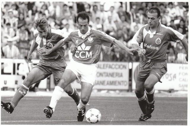 Juan Carlos Pardina en el partido CD Toledo-Real Valladolid de la promoción de ascenso a Primera División en la temporada 1993/1994 © Fotografía de Carlos Monroy