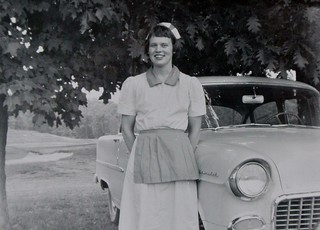 Mom - White Horse Restaurant - Paris Ontario - August 1956