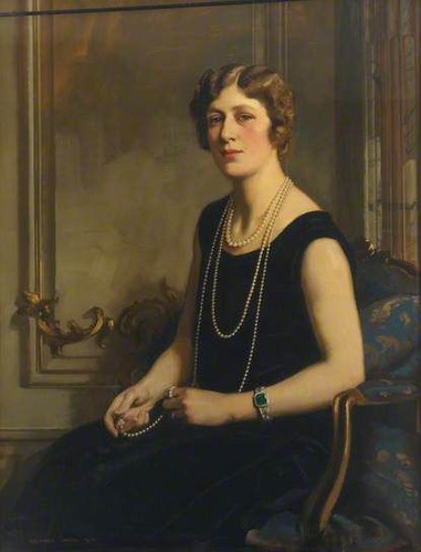 Portrait of a Woman with a Pearl Necklace, Richard Jack, 1928