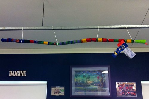 Rainbow serpent in the library