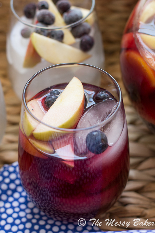 Wicked Blueberry Pomegranate Sangria | www.themessybakerblog.com-8823