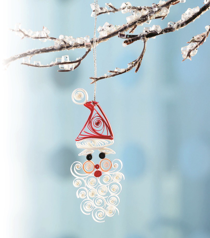 Quilled Paper Ornaments Quilled Santa Ornament