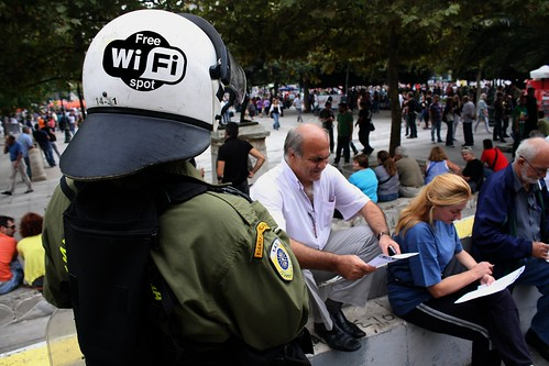 Greek PM's latest pie in the sky scheme - free wi-fi for everyone. by Teacher Dude's BBQ
