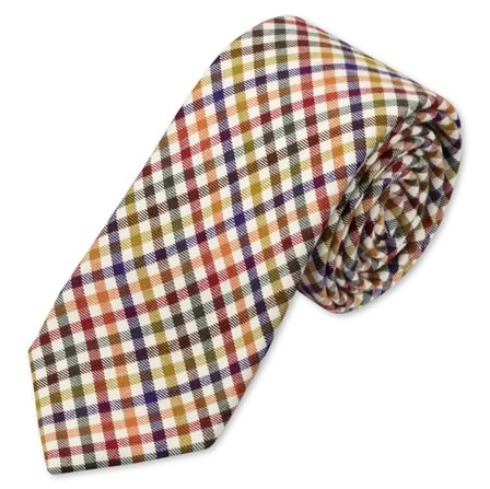Charles Tyrwhitt Country check multi handmade slim tie