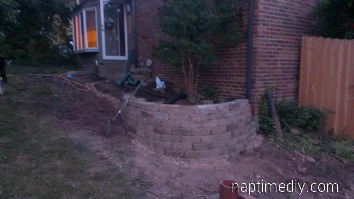 Retaining Wall Rebuild 4 (via NaptimeDIY.com)