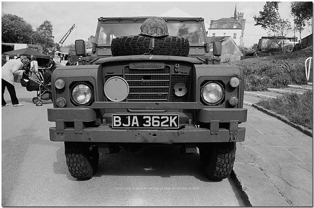 1971 Landrover Registration BJA 362K : 3500 Petrol : Bury East Lancs Rly 1940s WE : Nikon FE : Nikon Nikkor 28-70mm F3.5 - 4.5 Zoom : Ilford Delta 100 Film :