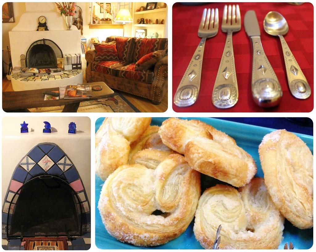 B&B La Posada de Taos breakfast and living room