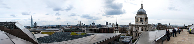 Panorama depuis la terrasse du One New Change