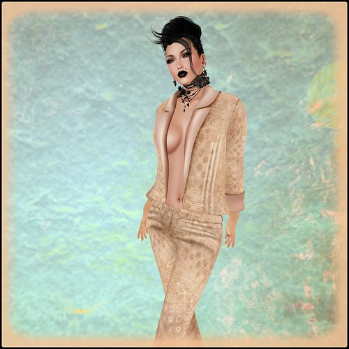 PM Dresha Blazer in Retro Toast MESH by Orelana resident