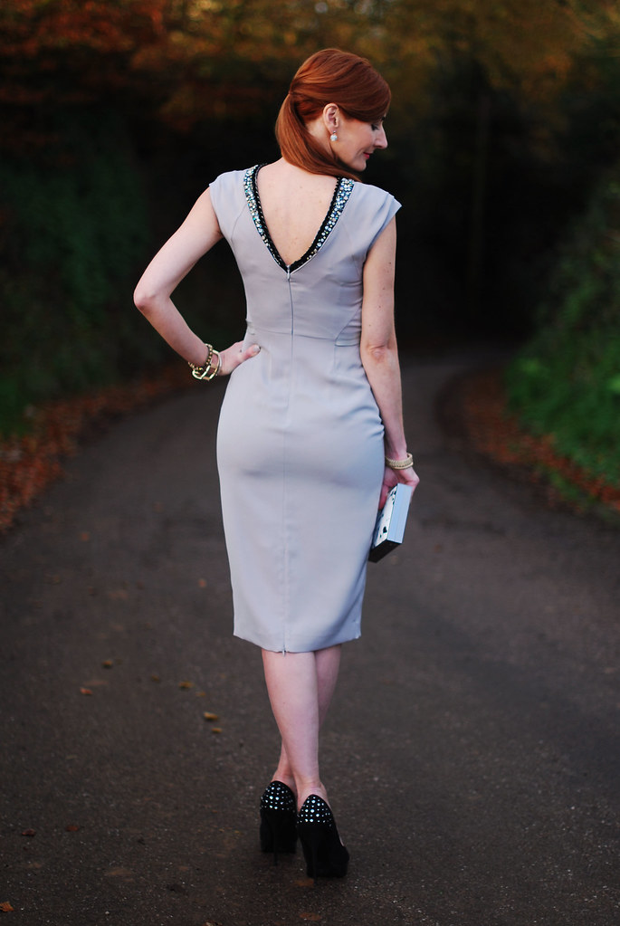 Bastyan Arin cocktail dress with deep V back