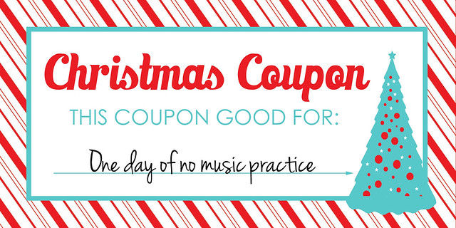 Christmas Coupon No Practice