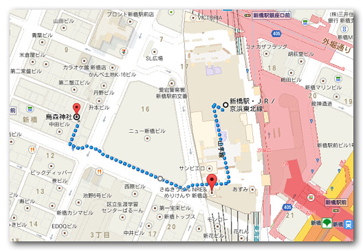 烏森神社地図