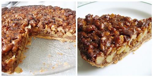 Crunchy walnut tart with chestnut honey