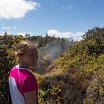 Emily and the steam vents, Volcanoes National Park